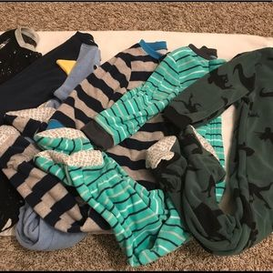 Five pairs of baby boy PJs, size 24 months